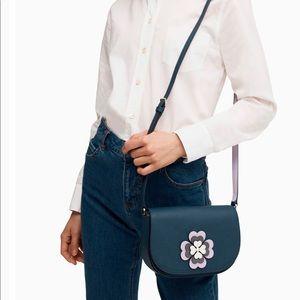 Kate Spade flower applique flap crossbody purse